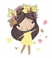 Plottervorlage Autumngirl