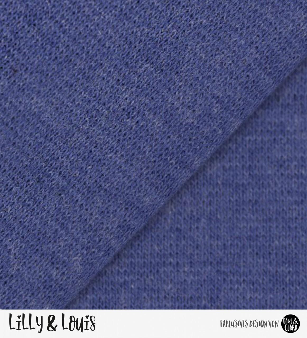Bündchen Fein - blau meliert *Schlauchware*