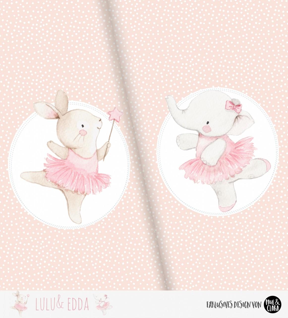 Eigenproduktion Lulu & Edda Ballerina Panel - Bio-Jersey 60 cm