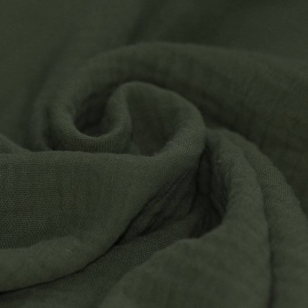 Baumwolle Musselin - Dunkelgrün