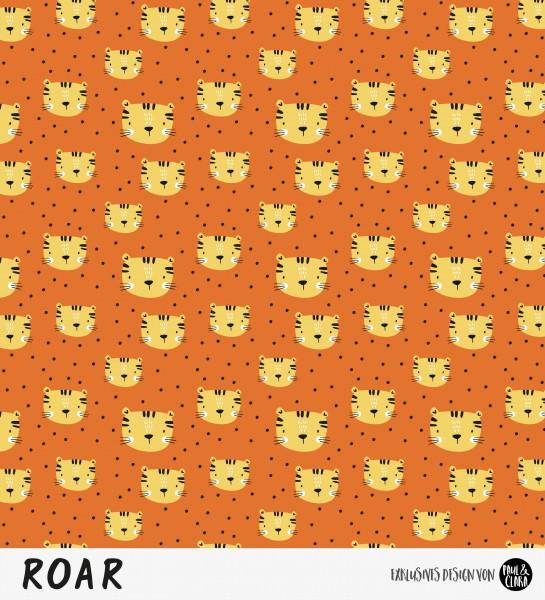 Eigenproduktion ROAR - Kombi Tigerkopf Rost/Gelb *Jersey*