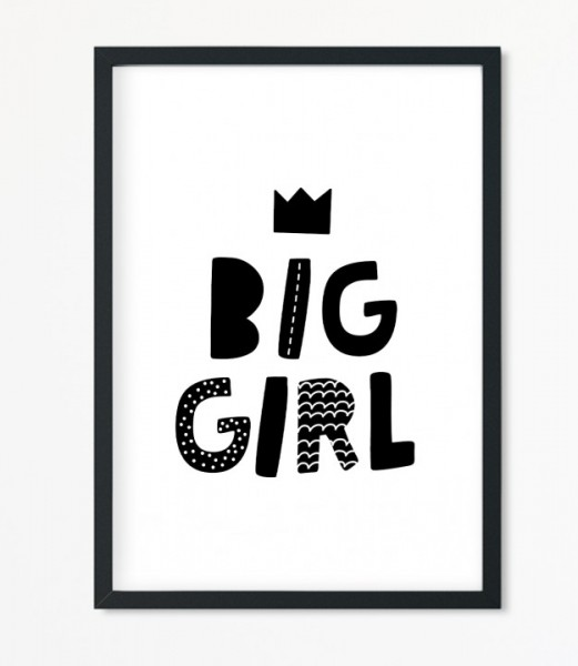 Poster *Big Girl* Kunstdruck