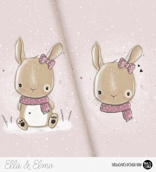 Ella & Elmo *Winter-Edition* - Panel Rosa *Bio-Sommersweat*