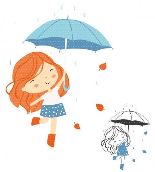 Plottervorlage Raingirl Blue