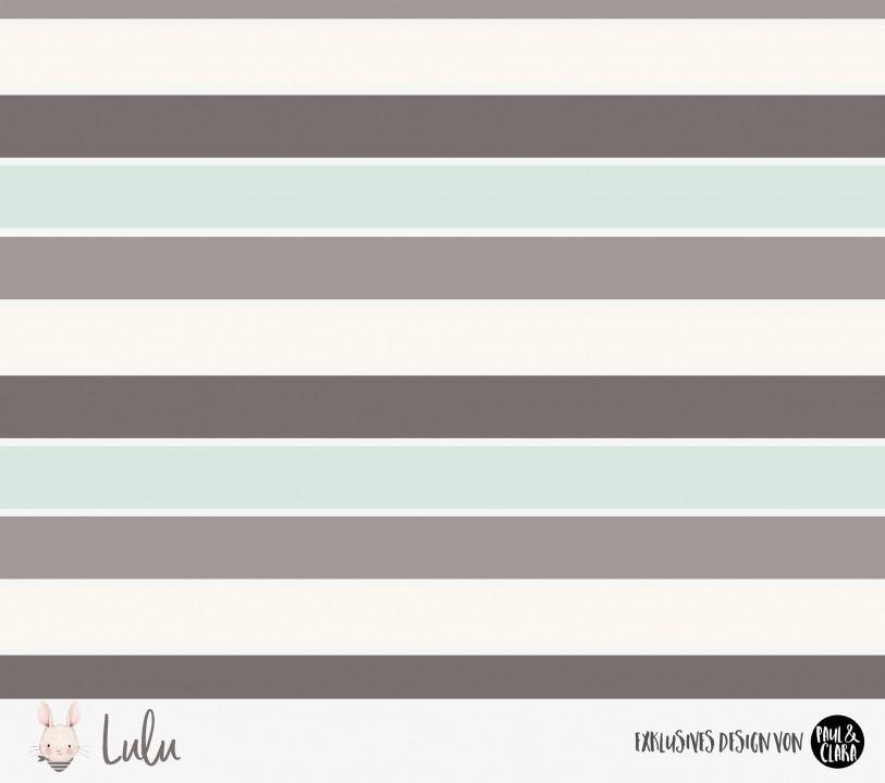 Eigenproduktion Lulu *Blockstreifen* Mint-Grau - Jersey