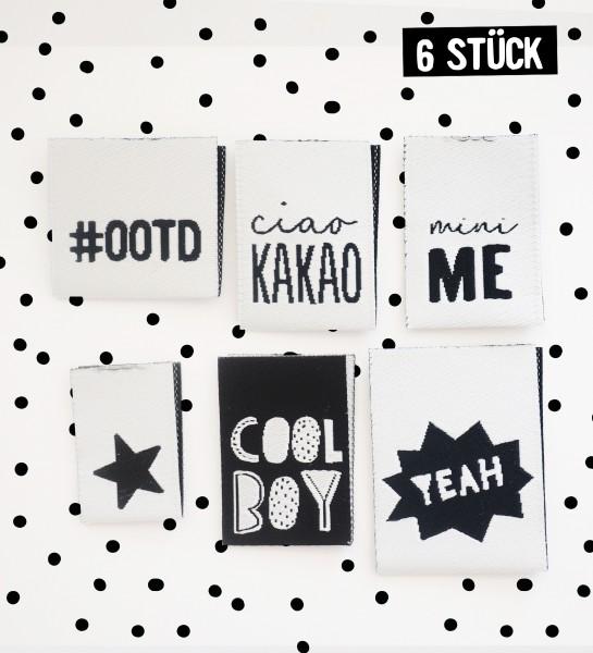 Label Set #BOYS - 6er Pack