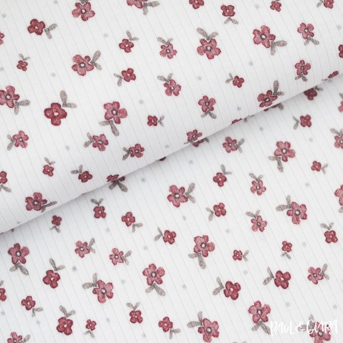 Bio Modal-Rippenstrick *Mora* - Alma Blumen Weiß