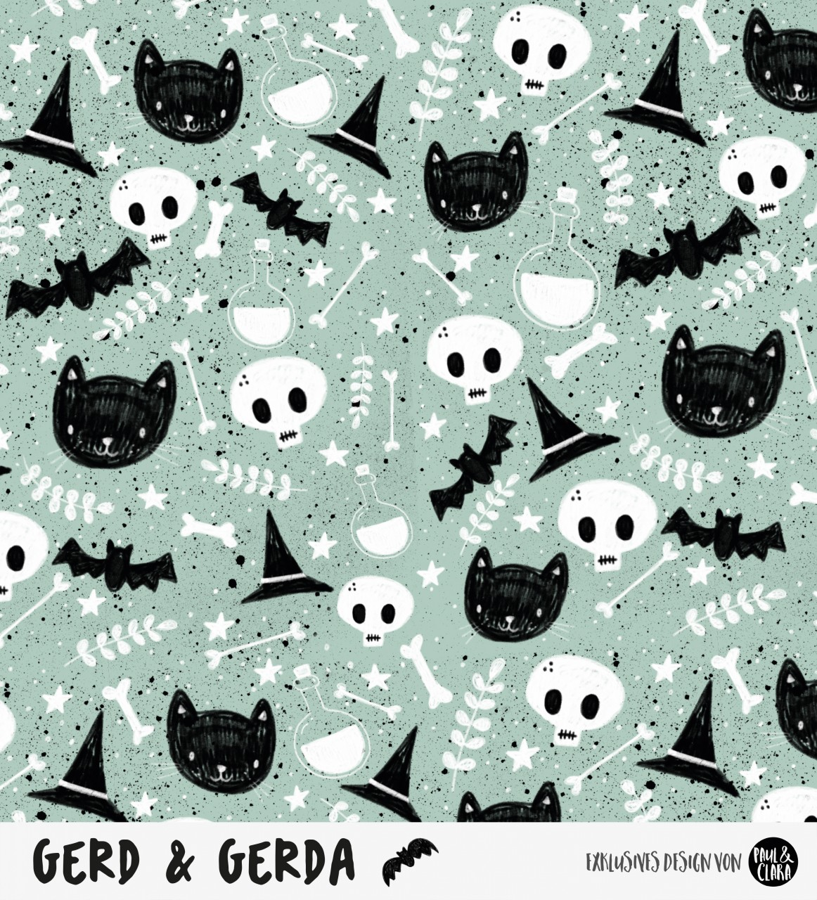 Gerd & Gerda - Allover MINT *Bio-Sommersweat*