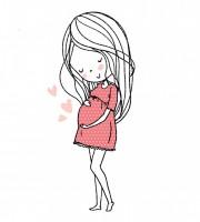 Stickdatei Mutterliebe Schwangere